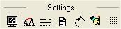 Barra herramientas de configuración