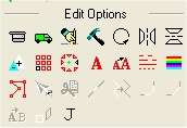 Barra herramientas de edición