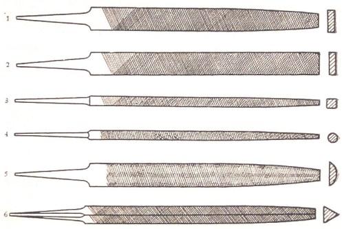 Formas de las limas